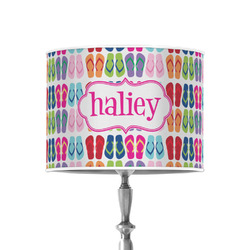 """FlipFlop 8"""" Drum Lamp Shade - Poly-film (Personalized)"""
