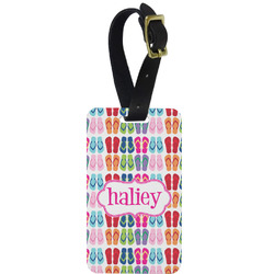 FlipFlop Metal Luggage Tag w/ Name or Text
