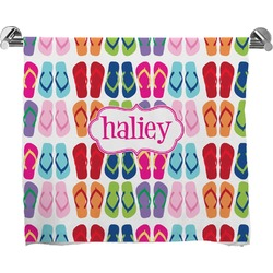 FlipFlop Full Print Bath Towel (Personalized)