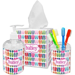 FlipFlop Bathroom Accessories Set (Personalized)