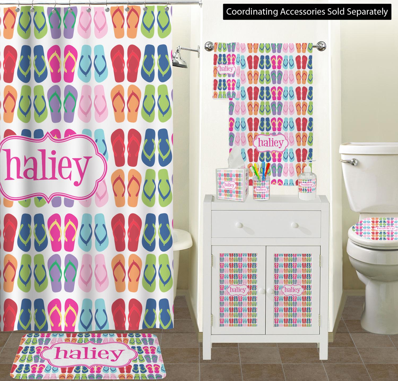 264aeb20863c FlipFlop Ceramic Bathroom Accessories FlipFlop Bathroom Scene Custom  Bathroom Decor (YouCustomizeIt ...