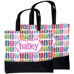 FlipFlop Beach Tote Bag (Personalized)