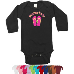 FlipFlop Bodysuit - Long Sleeves - 0-3 months (Personalized)