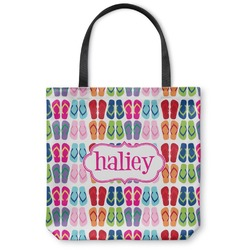 FlipFlop Canvas Tote Bag (Personalized)