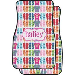 FlipFlop Car Floor Mats (Front Seat) (Personalized)