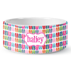 FlipFlop Pet Bowl (Personalized)