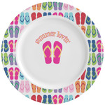 FlipFlop Ceramic Dinner Plates (Set of 4) (Personalized)
