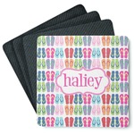 FlipFlop 4 Square Coasters - Rubber Backed (Personalized)