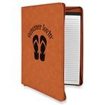 FlipFlop Leatherette Zipper Portfolio with Notepad (Personalized)