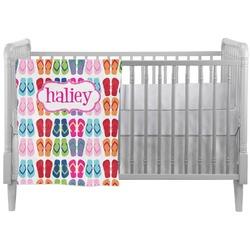 FlipFlop Crib Comforter / Quilt (Personalized)