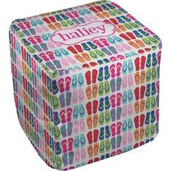 FlipFlop Cube Pouf Ottoman (Personalized)