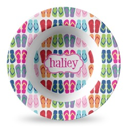 FlipFlop Plastic Bowl - Microwave Safe - Composite Polymer (Personalized)