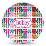 FlipFlop Microwave Safe Plastic Plate - Composite Polymer (Personalized)
