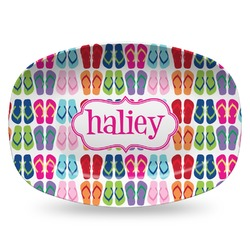 FlipFlop Plastic Platter - Microwave & Oven Safe Composite Polymer (Personalized)