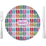 """FlipFlop Glass Lunch / Dinner Plates 10"""" - Single or Set (Personalized)"""