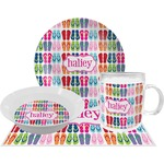 FlipFlop Dinner Set - 4 Pc (Personalized)