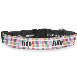 """FlipFlop Deluxe Dog Collar - Large (13"""" to 21"""") (Personalized)"""