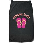 FlipFlop Black Pet Shirt (Personalized)