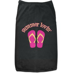 FlipFlop Black Pet Shirt - 2XL (Personalized)