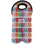FlipFlop Wine Tote Bag (2 Bottles) (Personalized)
