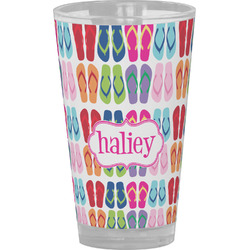FlipFlop Drinking / Pint Glass (Personalized)