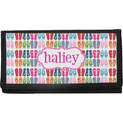 FlipFlop Canvas Checkbook Cover (Personalized)