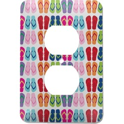 FlipFlop Electric Outlet Plate (Personalized)