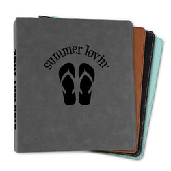 """FlipFlop Leather Binder - 1"""" (Personalized)"""