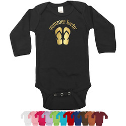 FlipFlop Foil Bodysuit - Long Sleeves - 6-12 months - Gold, Silver or Rose Gold (Personalized)