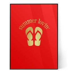 FlipFlop 5x7 Red Foil Print (Personalized)