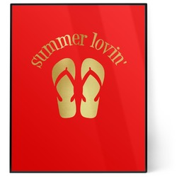 FlipFlop 8x10 Foil Wall Art - Red (Personalized)