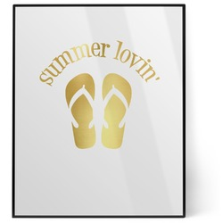 FlipFlop 8x10 Foil Wall Art - White (Personalized)