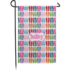 FlipFlop Single Sided Garden Flag With Pole (Personalized)