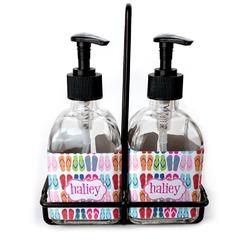 FlipFlop Soap & Lotion Dispenser Set (Glass) (Personalized)