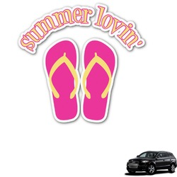FlipFlop Graphic Car Decal (Personalized)