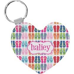 FlipFlop Heart Keychain (Personalized)