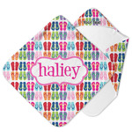 FlipFlop Hooded Baby Towel (Personalized)