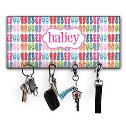 FlipFlop Key Hanger w/ 4 Hooks w/ Name or Text