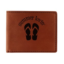 FlipFlop Leatherette Bifold Wallet - Double Sided (Personalized)