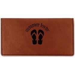 FlipFlop Leatherette Checkbook Holder (Personalized)