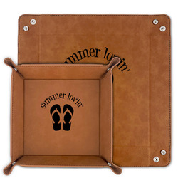 FlipFlop Faux Leather Valet Tray (Personalized)