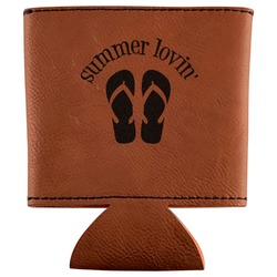 FlipFlop Leatherette Can Sleeve (Personalized)
