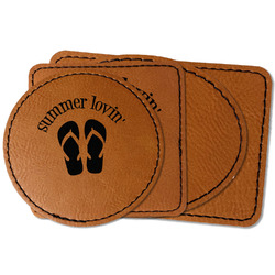 FlipFlop Faux Leather Iron On Patch (Personalized)