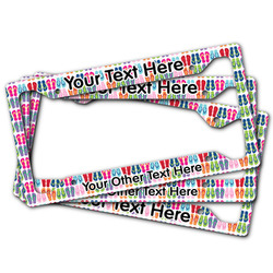 FlipFlop License Plate Frame (Personalized)
