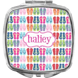 FlipFlop Compact Makeup Mirror (Personalized)