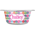 FlipFlop Stainless Steel Dog Bowl (Personalized)