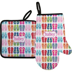 FlipFlop Oven Mitt & Pot Holder (Personalized)