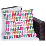 FlipFlop Outdoor Pillow (Personalized)