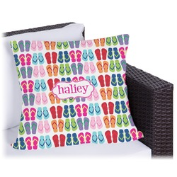 """FlipFlop Outdoor Pillow - 16"""" (Personalized)"""