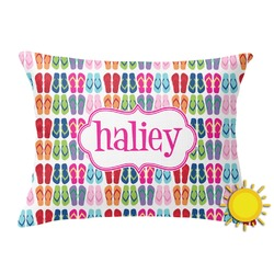FlipFlop Outdoor Throw Pillow (Rectangular) (Personalized)